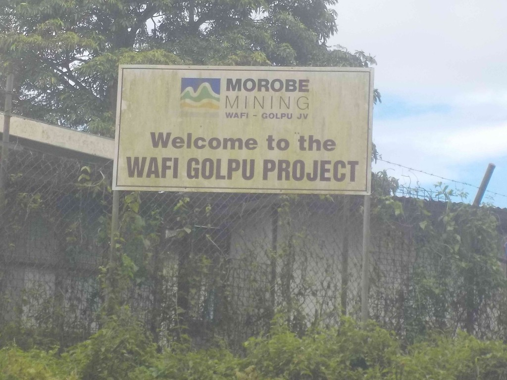 Wafi-Golpu sign